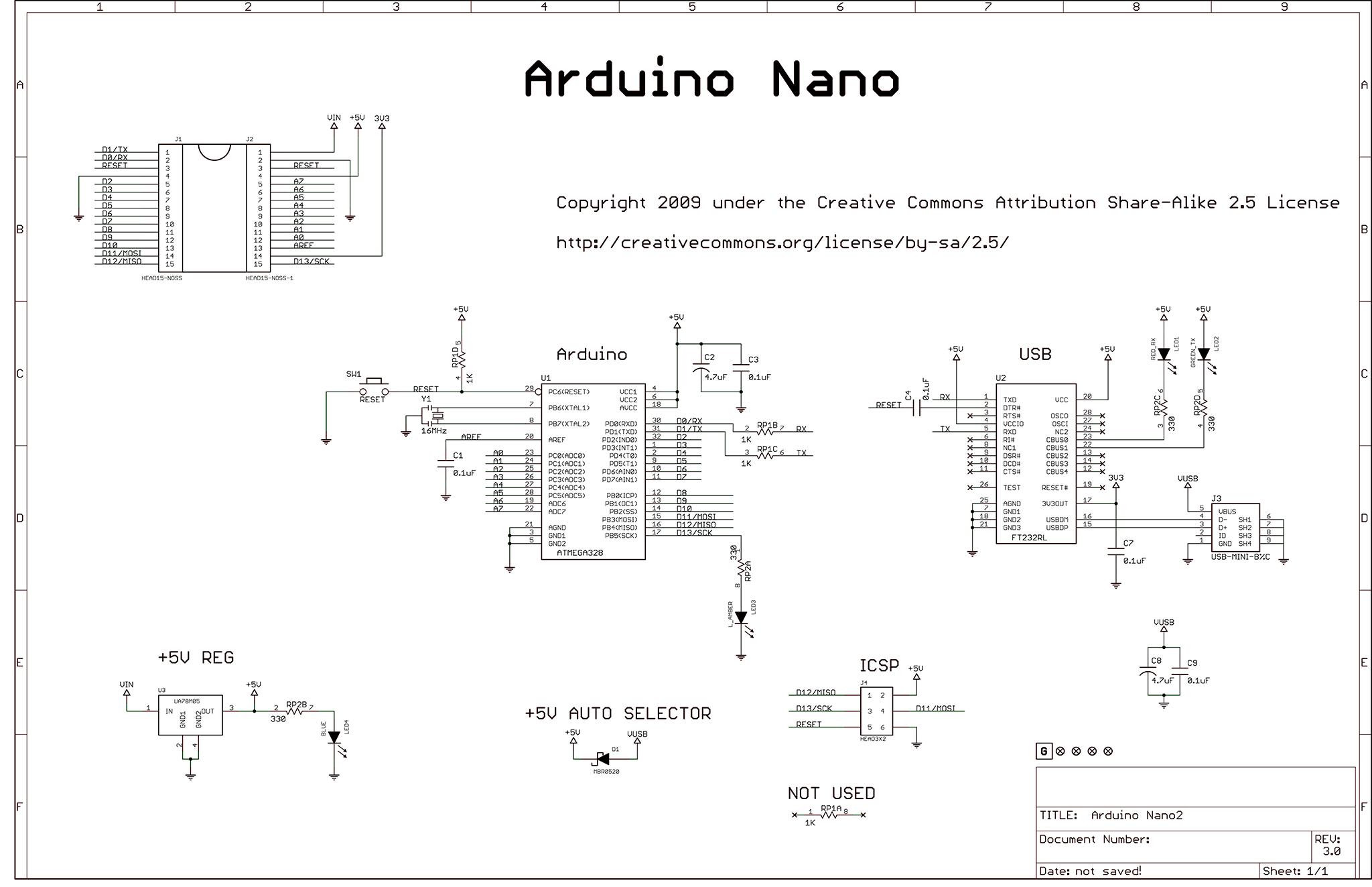 schematic diagram of the arduino nano