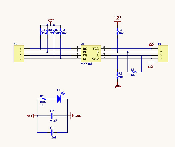Schematic Diagram Example: RS485-Modules